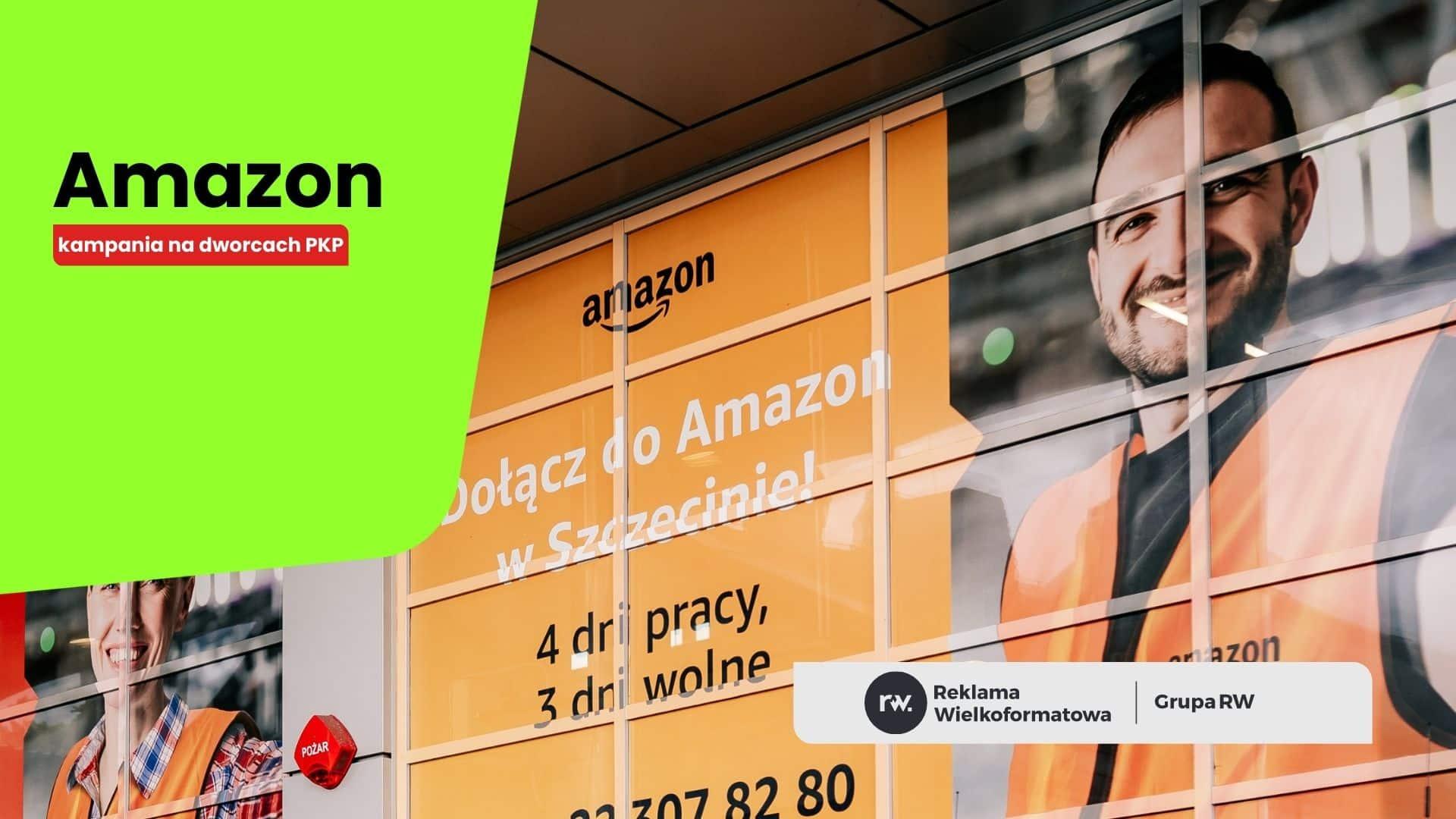 Amazon na dworcach PKP